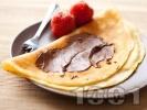 Рецепта Бързи, лесни и вкусни обикновени палачинки с прясно мляко и течен шоколад